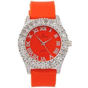 Mens Ice Watch - silver/Orange
